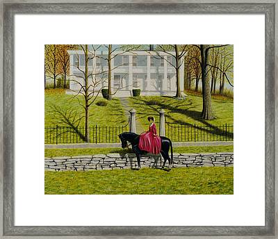Her Favorite Horse Framed Print by Stacy C Bottoms