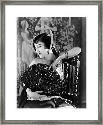 Her Husbands Trademark, Gloria Swanson Framed Print by Everett