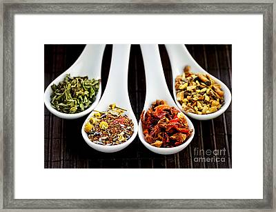 Herbal Teas Framed Print