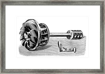 Hercule-progres Turbine Framed Print by Science Photo Library