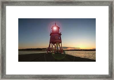 Herd Groyne Lighthouse  South Shields Framed Print