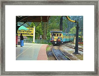 Heritage Steam Train, Udagamandalam Framed Print by Connie Bransilver