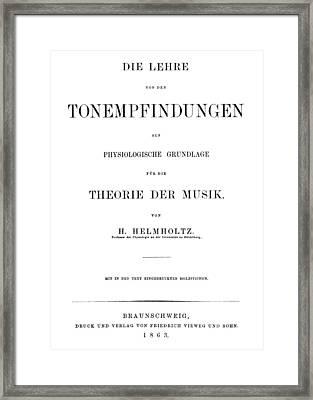 Hermann Von Helmholtz (1821-1894) Framed Print