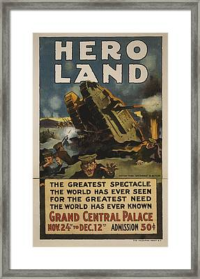 Hero Land Poster Framed Print