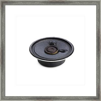 Hifi Speaker Framed Print by Science Photo Library