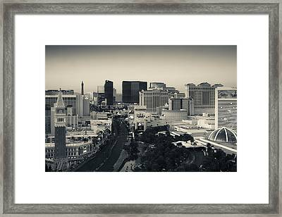 High Angle View Of A City, Las Vegas Framed Print