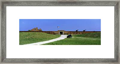 High Angle View Of A Fort, Fort Clinch Framed Print by Panoramic Images