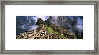 High Angle View Of An Archaeological Framed Print by Panoramic Images