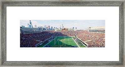 High Angle View Of Spectators Framed Print