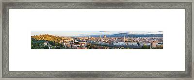 High Angle View Of The City Framed Print