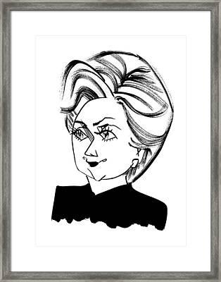 Hillary Clinton Framed Print by Tom Bachtell