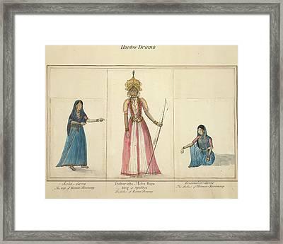 Hindoo Drama Framed Print