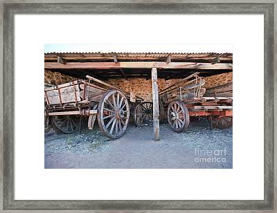 Historical Telegraph Station Alice Springs Central Australia  Framed Print
