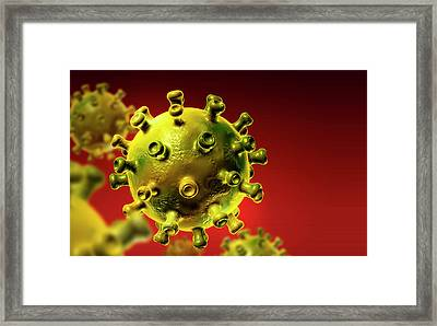 Hiv Particles Framed Print