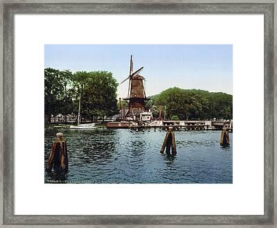 Holland Windmill Framed Print
