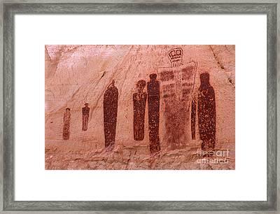 Holy Ghost Petroglyph Framed Print