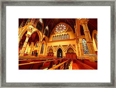 Holy Name Cathedral Framed Print