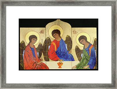 Holy Trinity Framed Print by Amy Reisland-Speer