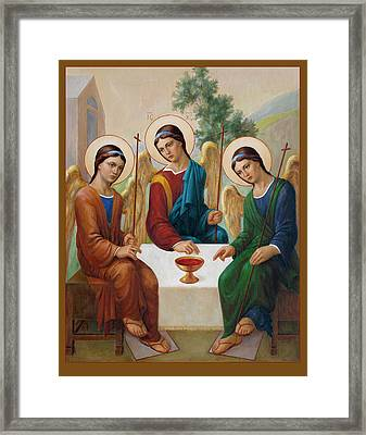 Framed Print featuring the painting Holy Trinity - Sanctae Trinitatis by Svitozar Nenyuk