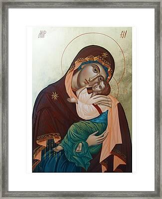 Holy Virgin Of Tenderness Framed Print by Janeta Todorova