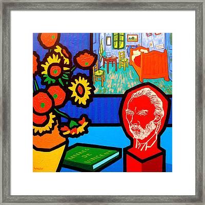 Homage To Vincent Van Gogh Framed Print
