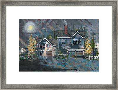 Home In The Suburbs Framed Print by John Wyckoff