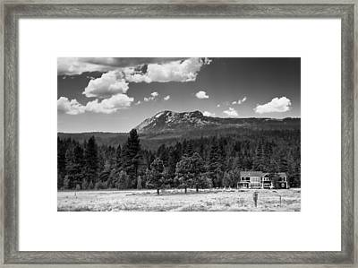 Home In The Valley Framed Print by Mick Burkey