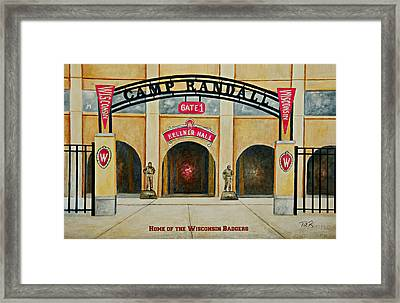 Home Of The Badgers Framed Print