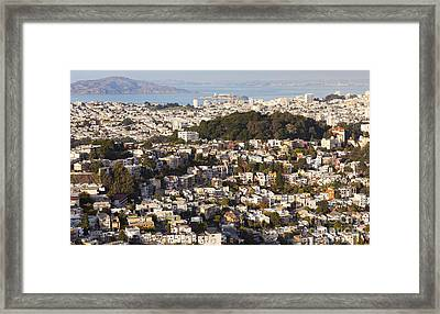 Homes Of San Francisco Framed Print by B Christopher