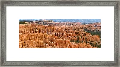 Hoodoo Rock Formations In A Canyon Framed Print