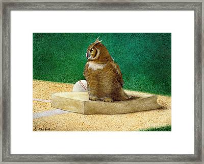 Hoos On First... Framed Print