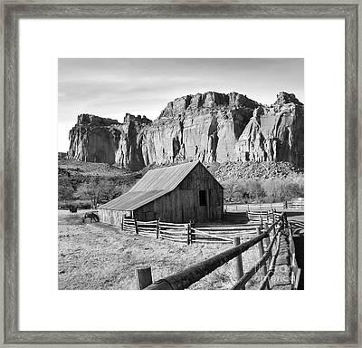 Horse Barn In Fruita Utah Framed Print by Jack Schultz