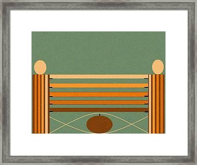 Horse Jump Design Framed Print