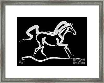 Horse-runner Framed Print
