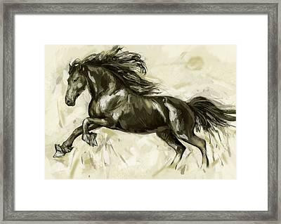Horse Stylised Pop Art Drawing Potrait Poser Framed Print