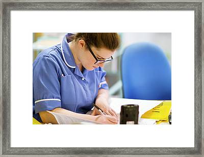 Hospital Nurse Framed Print by Life In View