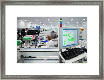 Hospital Pathology Lab Framed Print by Aberration Films Ltd