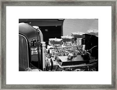 Hot Rod Engine Framed Print by Jill Reger