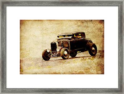 Hot Rod Ford Framed Print by Steve McKinzie