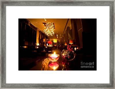 Hotel Lounge Framed Print