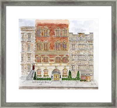 Hotel Washington Square Framed Print