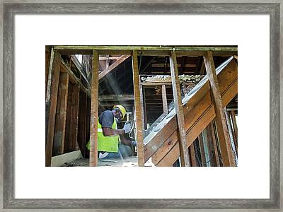 House Deconstruction And Recycling Framed Print
