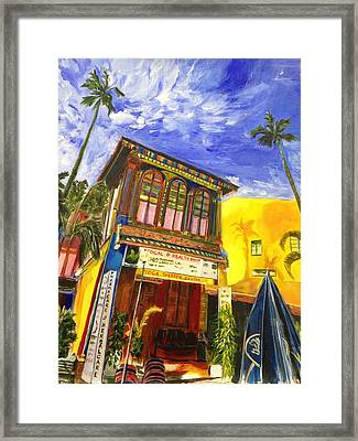 House Of The Rising Palms Framed Print by Belinda Low