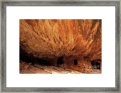 House On Fire Ruin Framed Print