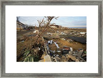 Hurricane Sandy Damage Framed Print
