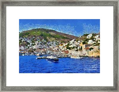 Hydra Island Framed Print by George Atsametakis