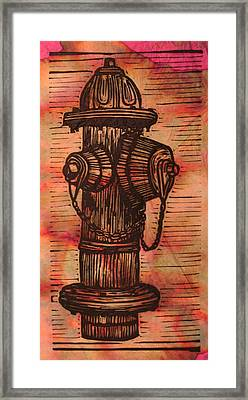 Hydrant Framed Print by William Cauthern