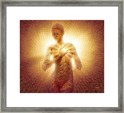 Framed Print featuring the painting I Am Love by Robby Donaghey