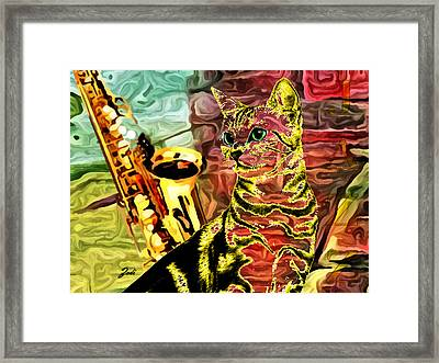 Framed Print featuring the photograph Jazz by Ze  Di