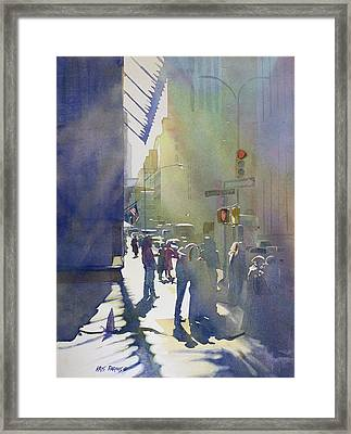 I Saw The Light At 44th And Broadway Framed Print by Kris Parins